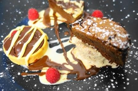 Trio of Chocolate dessert Restaurant Adare