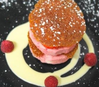 Raspberry Parfait Restaurant Adare